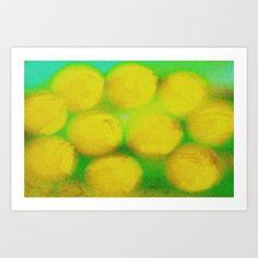 Ten Lemons #2 Art Print by Betty Mackey - $15.00