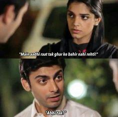 haaha.. lovely #Mkhani♥ Drama Memes, Drama Quotes, Movie Quotes, Sanam Saeed, Pak Drama, Bollywood Quotes, Best Dramas, Romantic Pictures, Pakistani Dramas
