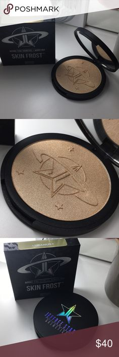 Jeffree Star Cosmetics⭐️Manny Mua URANUS Highlight Limited Edition Highlight from Jeffree Star Cosmetics. Collaboration with YouTube beauty guru Manny Mua.  Barely touched, has been used a max of 2 times.   Thjs product has been gently used. Comes with original box. Jeffree Star Cosmetics Makeup Luminizer