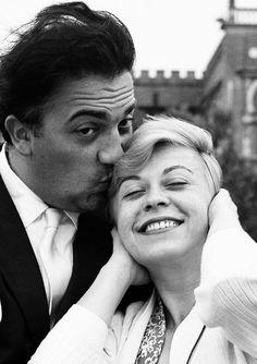 Federico Fellini and Giulietta Masina in Venice, 1955: