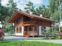 Проекты каменных домов из сборно-монолитных панелей - компания ДСК Загородный…