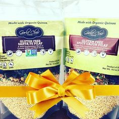 It's 12 Days of Garlic Clove Foods Gift Ideas! Day 7: Gluten Free Goodness!  Friends gone gluten free? You can still give the gift of good food with our Gluten Free pilafs! Grab our Gluten Free Santa Fe and Gluten Free Spicy Cajun Pilafs and wrap them up with your favorite chicken or veggie broth to give the gift of two totally simple gluten free meals!