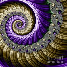The Magic Shell - A Fractal by Mary Machare available as prints and iPhone/Galaxy cases on Fine Art America.