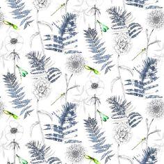 Acanthus Indigo Fabric | Designers Guild