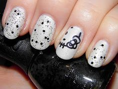 Hello Kitty Nail Art and like OMG! get some yourself some pawtastic adorable cat apparel! Pastel Nails, Cute Acrylic Nails, Bling Nails, 3d Nails, Great Nails, Cute Nails, Hello Kitty Nails, Stiletto Nail Art, Red Nail Designs