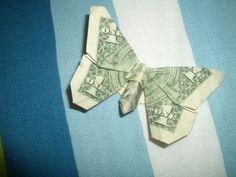 money folding | origami paper fold money united states US dollar butterfly 3 ...