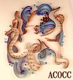 Paper quilling Octopus
