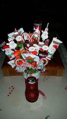 CHRISTMAS candy bouquet                                                       …