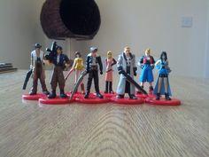 Final Fantasy VIII Coca Cola figures