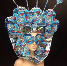 futuristic alien outer space by PoshFairytaleCouture --> completely crazy, made out of capri sun packets, amazing