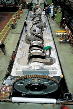 300 ton crankshaft from the most powerful and largest diesel engine in the world.