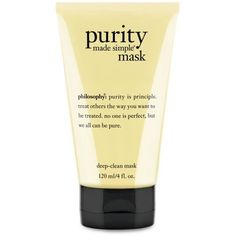 Philosophy  Purity Masque (89 ILS) ❤ liked on Polyvore featuring beauty products, skincare, face care, face masks, deep cleansing face mask, face mask, deep cleansing facial mask, facial mask and deep cleansing mask