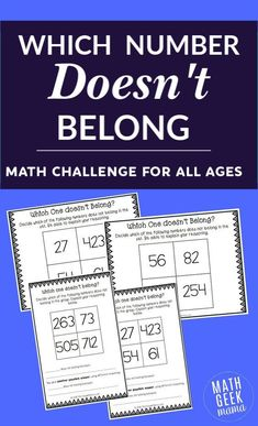This unique math challenge will get kids of all ages thinking! There isn't just… This unique math challenge is sure to get your kids thinking and talking about math. Encourage logical reasoning with these open ended challenges. Kindergarten Math Games, Math Tutor, Math Classroom, Teaching Math, Math Education, Classroom Ideas, Teaching Tips, Preschool Activities, Math For Kids
