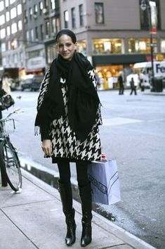 On The Street….Large Graphic DVF Coat, New York « The Sartorialist