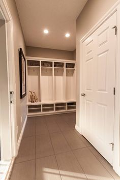 Mudroom love the extra closet Aspen Wood, Mudroom Laundry Room, Walkout Basement, My House, Calgary, Outdoor Decor, Woods, Room Ideas, Closet