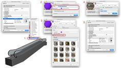 Soms kom je bij het kiezen van een afwerking erachter dat je nog geen juiste afwerking in je project hebt. Volg dan de volgende methodiek: 1. Selecteer de afwerking 'ZZ Eigen Surfaces' 2. Ga naar de Surface en maak eerst een kopie: New > Duplicate (hierdoor kan ditzelfde proces voor een andere keer herhaald worden) 3. Kies nogmaals 'ZZ Eigen Surfaces' en dan New > Replace Settings from Catalog en kies een afwerking uit de bibliotheek. 4. Hernoem het Surface 5. Het is automatisch ingevuld