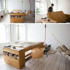 From desk to bed-multifunctional furniture