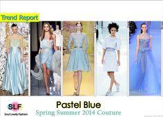 Pastel Blue #Fashion Trend for Spring Summer 2014 #hc #Color #Pastels