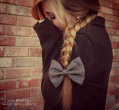 braid hair with bow