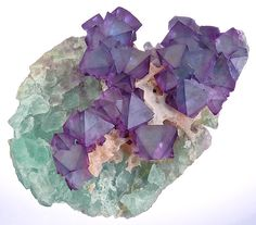 Fluorite and Quartz (?) Looks like blue Fluorite and purple fluorite--possibly from China.