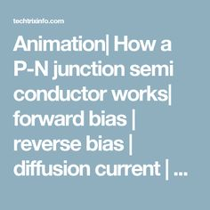 Animation| How a P-N junction semi conductor works| forward bias | reverse bias | diffusion current | drift current | avalanche breakdown Explained. - TechTrixInfo.com | TechTrixInfo.com