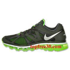 dacd6929984 Mens Nike Air Max 2012 Sequoia Volt Running Shoes Nike Free Run 3 -