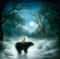 Bear and hare, just like the John Lewis Christmas advert :) x