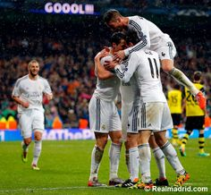 2013-14 Champions League Quarter Final - 1st Leg .. Real Madrid 3 - 0 Borussia Dortmund #HalaMadrid #RealMadridDortmund
