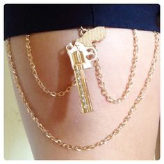Revolver Pistol Gun Thigh Chain by INGcouture on Etsy