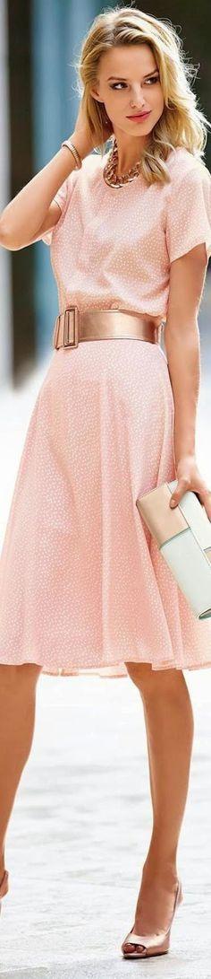 MADELEINE POWDER ROSE SILK SKIRT @roressclothes closet ideas #women fashion outfit #clothing style apparel