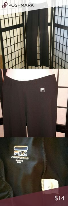 Fila Perforaia Black Stretch Workout Pants Excellent Condition, Fila Logo on Front, Great for the gym or lounging, Elastic Waist, Comfy, Sorry No trade. Thank you for sharing my closet, I will ALWAYS show you Posh Love by doing the same. Fila Pants