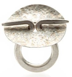 Hand Forged Silver Ring by Gloria Carlos  (NZ) - nice example of a simple no solder, forged silver ring