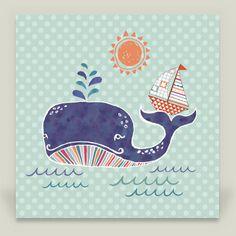 Fun Indie Art from BoomBoomPrints.com! https://www.boomboomprints.com/Product/Janetbroxon/Sail_on_a_Whale_Tail/Art_Prints/10x10_Print/