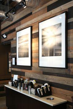 kreative wandgestaltung holzverkleidung innen deko ideen dekorativ - Gemutliche Holzverkleidung Innen
