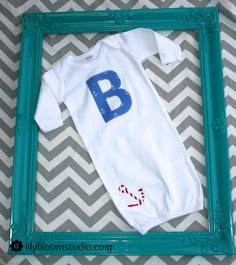 Baby Gown Personalized with Anchor. $23.00, via Etsy.