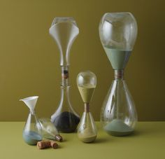 Take empty Method soap bottles and convert into hourglasses- would make for interesting desk accessories. #upcycle