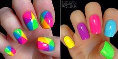 EimaiOmorfi.gr Gold Makeup, Makeup Art, Nail Polish Designs, Nail Designs, Rainbow Nails, Blue Nails, Summer Nails, Pedicure, Nail Colors