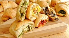 Savory Stuffed Crescent Rolls Saved this for ideas for breakfast ring.
