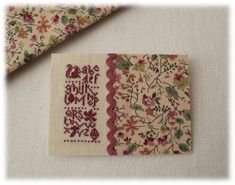 Le Blog d'Aurèle: ABC d'automne... Floral Tie, Alphabet, Miniatures, Accessories, Fall Season, Toile, Embroidery, Alpha Bet, Minis