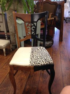 Before and after paint chair!