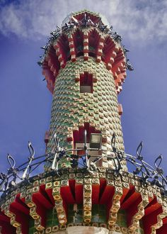Tower in Gaudi's El Capricho, Comillas  | Cantabria | Spain