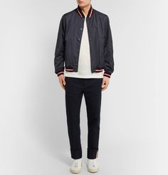 <a href='http://www.mrporter.com/mens/Designers/Moncler'>Moncler</a>'s slick 'Dubost' bomber jacket is both stylish and functional. Cut for a semi-fitted shape from wind and water-repellent shell, it's finished with athletic-inspired ribbed trims and easy-going snap fastenings. Throw it on with jeans at the weekend.