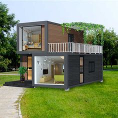 Tiny House Cabin, Tiny House Living, Tiny House Plans, Contener House, Small House Design, Modern House Design, Modern Tiny House, Building A Container Home, Container Cabin