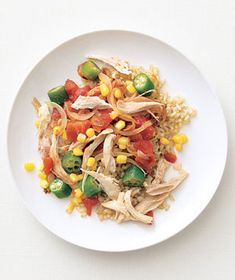 Use a store-bought rotisserie chicken in this shortcut recipe to cut down on prep time. Get the recipe for Cajun Chicken and Rice.