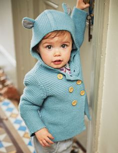 Cute Knitted Jacket by Boden, but I think I could add the ears to a hoodie.