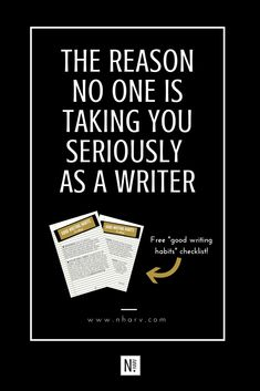 The Reason No One Is Taking You Seriously As A Writer.
