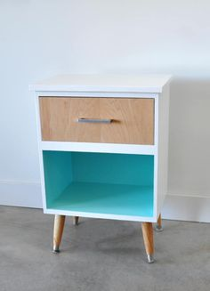 vintage night stand before and after