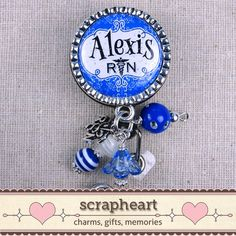 PERSONALIZED RN Name Badge Reel Cute Bright by ScrapheartGifts