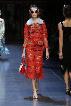 27ec776040 Dolce & Gabbana designers Domenico Dolce and Stefano Gabbana wrote a love  letter to Italy with their spring-summer 2016 collection presented during  Milan…