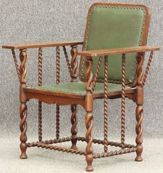8697: EARLY 20TH CENTURY OAK HUNTZINGER ARM CHAIR heigh : Lot 8697